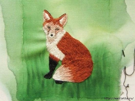 Панно с лисичкой. Вышиваем гладью (34) (553x415, 143Kb)