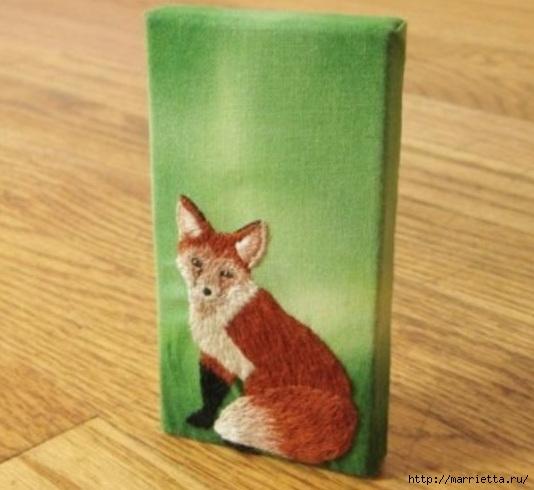 Панно с лисичкой. Вышиваем гладью (36) (534x490, 130Kb)