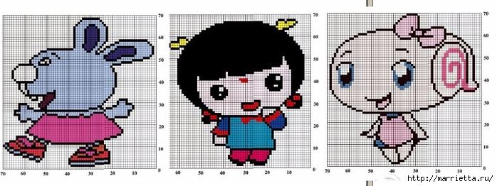 Вязание с аппликацией для детских нарядов (11) (700x262, 167Kb)