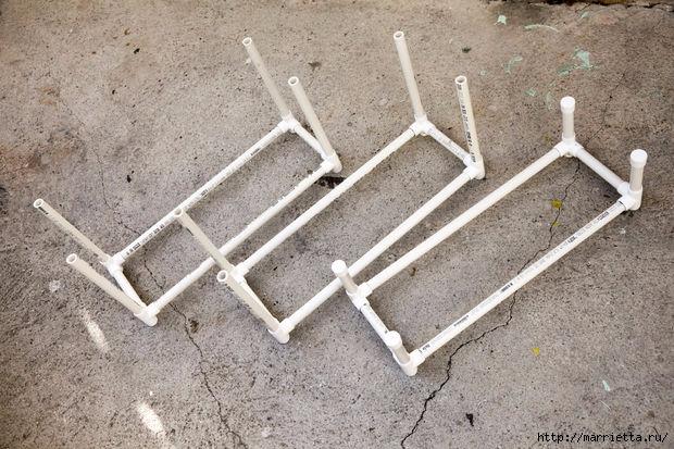 Своими руками. Этажерка из полимерных труб ПВХ (13) (620x413, 212Kb)