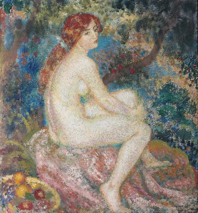 Рыжеволосая женщина (Femme rousse). 1910 (ок) (651x700, 640Kb)