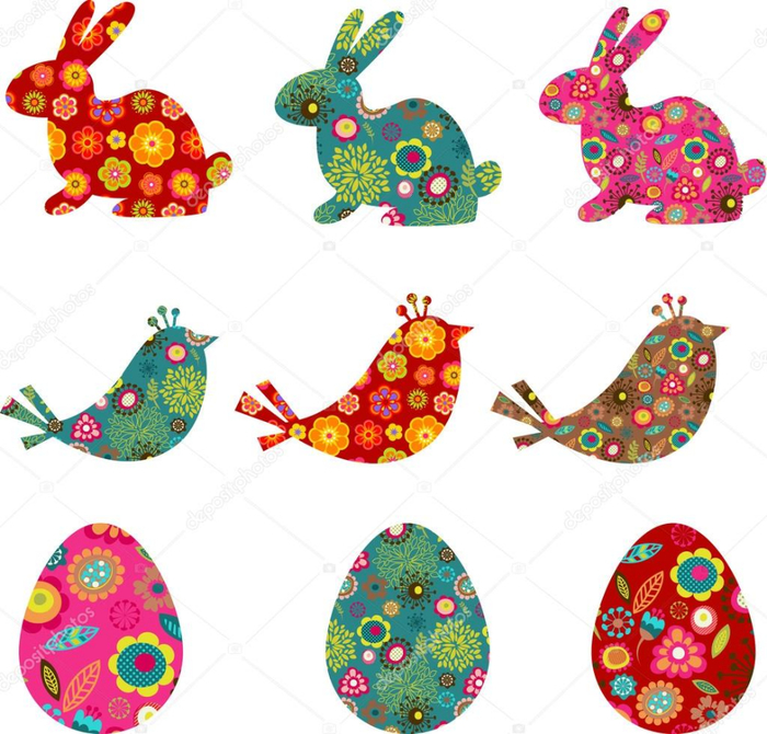 depositphotos_9064084-Patterned-bunnies-birds-and-eggs (700x670, 424Kb)