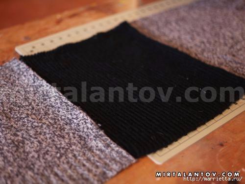 Переделка одежды. Снуд-шарф из старого свитера (4) (500x375, 93Kb)