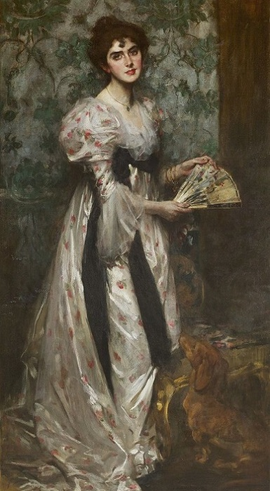Mrs. Harold Burke, circa 1898 (385x700, 108Kb)