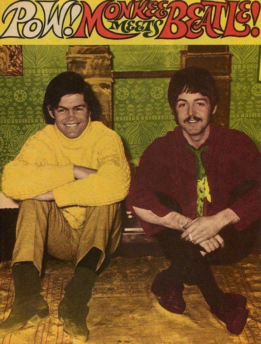Micky Dolenz and Paul McCartney