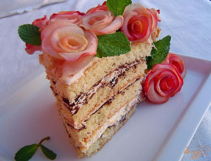 «Букет для женщин» - торт с яблочными розами (15) (700x536, 397Kb)