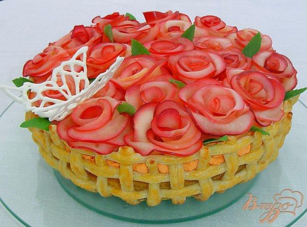 «Миллион алых роз» - торт с яблочными розами (7) (620x458, 276Kb)