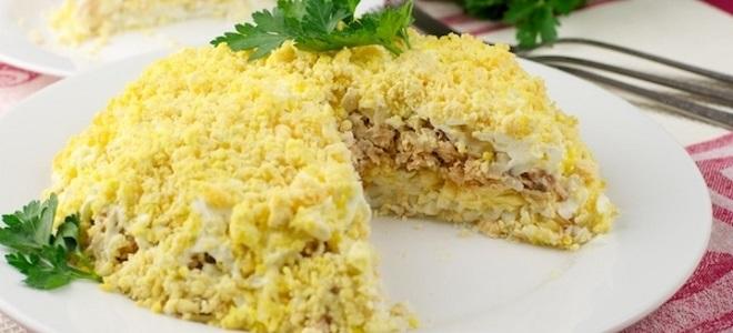 Салат мимоза картошкой рецепт фото