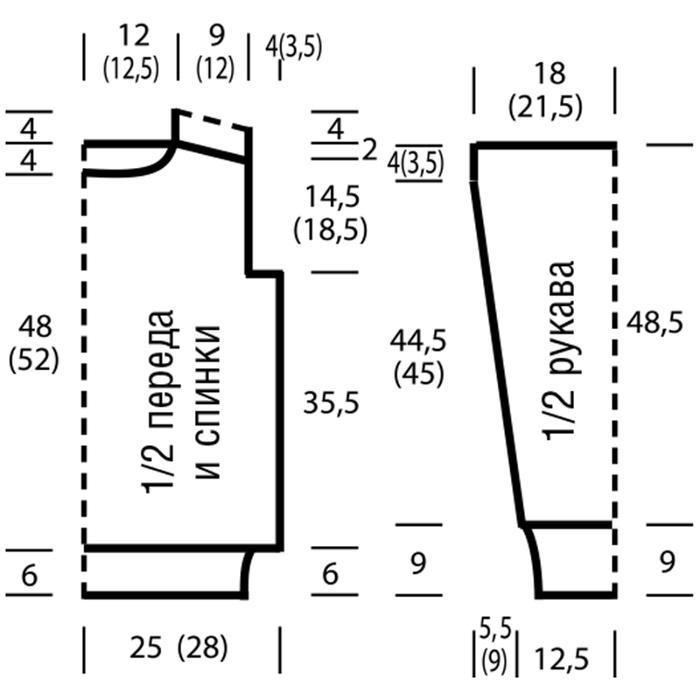 Плотность вязания 9 п