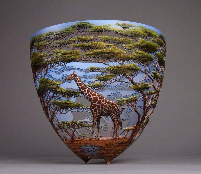 деревянные чаши художник Гордон Пэмбридж 1 (699x605, 311Kb)
