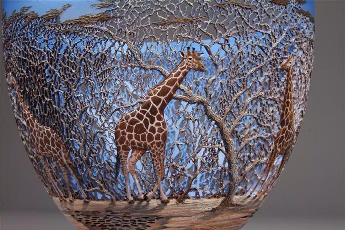 деревянные чаши художник Гордон Пэмбридж 2 (700x466, 417Kb)