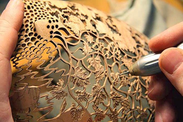 деревянные чаши художник Гордон Пэмбридж 3 (700x466, 352Kb)