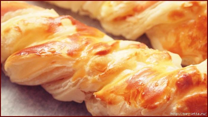 Косичка из слоеного теста с курицей и сыром (1) (700x394, 181Kb)