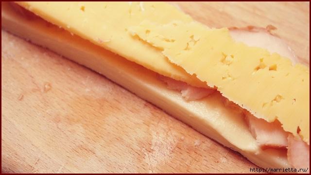 Косичка из слоеного теста с курицей и сыром (3) (640x361, 147Kb)
