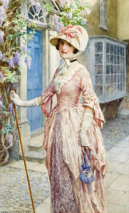 William Henry Margetson UNA DAMA DE CALIDAD wat (423x700, 363KB)