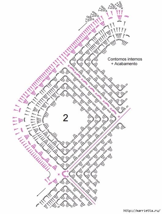 Коврик крючком из меланжевой и пряжи «травка» (7) (529x697, 221Kb)