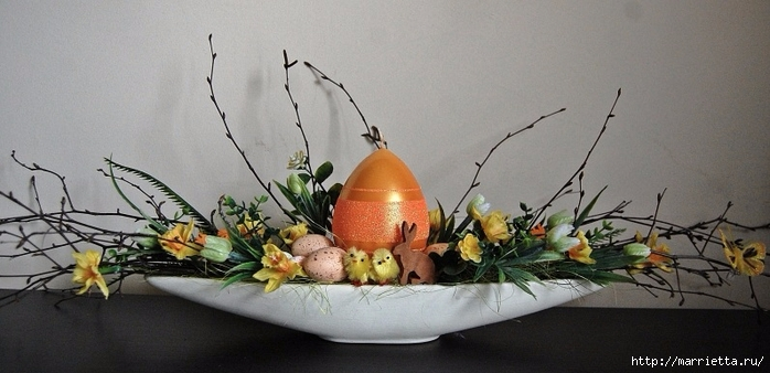 Пасхальный декор. Красивые идеи к празднику (11) (700x338, 184Kb)