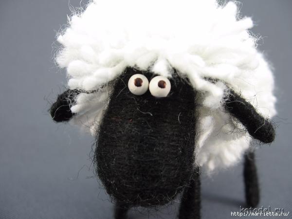 Как сделать овечку из ниток. Мастер-класс (1) (600x450, 158Kb)
