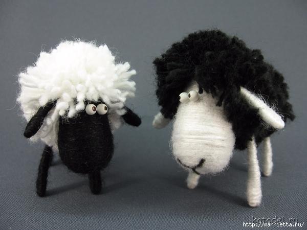 Как сделать овечку из ниток. Мастер-класс (3) (600x450, 187Kb)