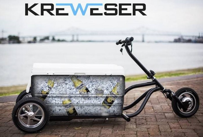 Kreweser— велосипед-холодильник!