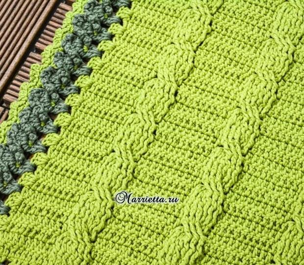 «Зеленая лужайка» - коврик крючком (1) (620x541, 525Kb)