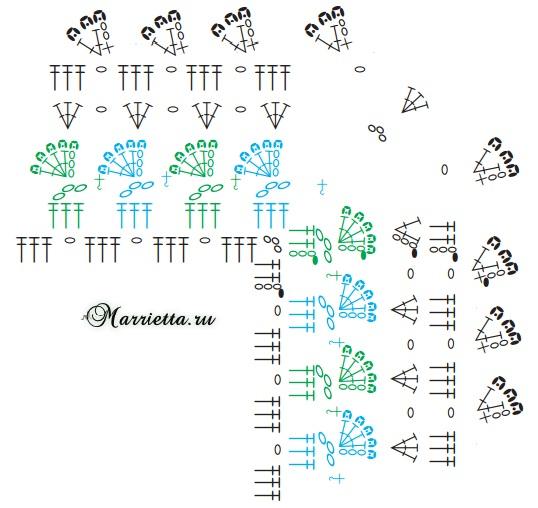 «Зеленая лужайка» - коврик крючком (7) (538x508, 209Kb)