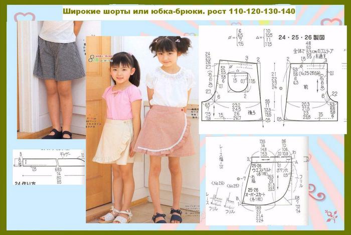 Шьем шорты на девочку своими руками