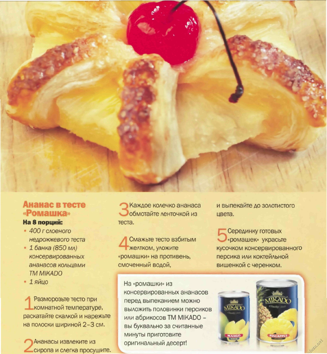 Ананасовый рецепт пошагово