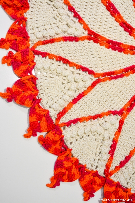 Вязание крючком круглого двухцветного коврика (1) (466x700, 315Kb)