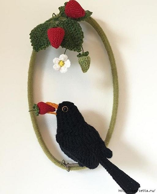 Птичий двор Jose Heroys. Вязаные птички, необыкновенной красоты (10) (513x636, 138Kb)