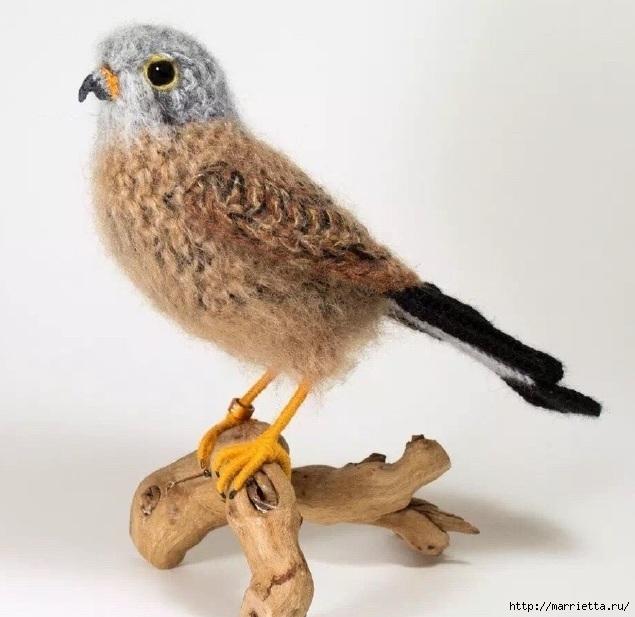 Птичий двор Jose Heroys. Вязаные птички, необыкновенной красоты (20) (635x617, 168Kb)