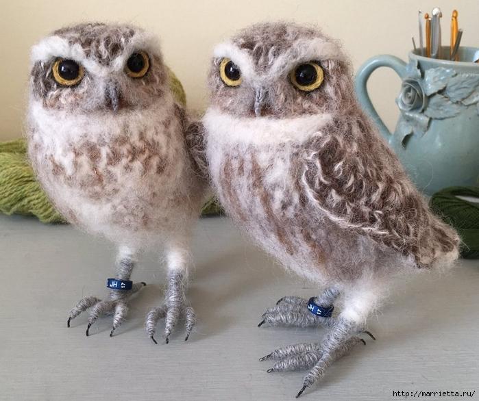 Птичий двор Jose Heroys. Вязаные птички, необыкновенной красоты (24) (700x586, 302Kb)