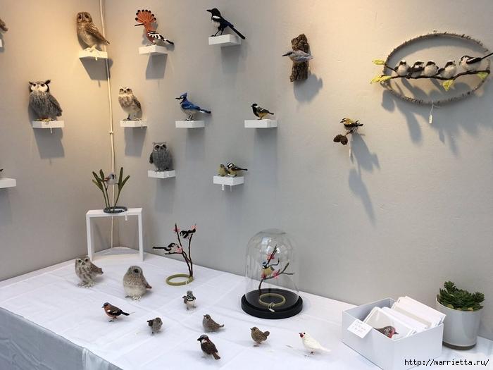 Птичий двор Jose Heroys. Вязаные птички, необыкновенной красоты (28) (700x525, 222Kb)