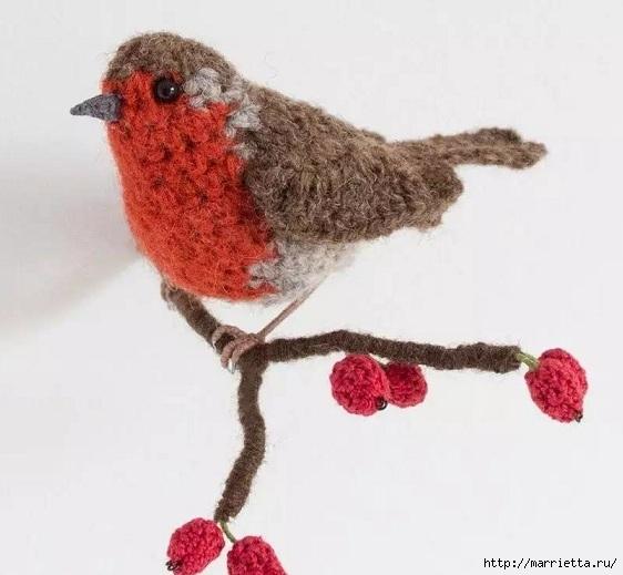 Птичий двор Jose Heroys. Вязаные птички, необыкновенной красоты (48) (562x519, 124Kb)