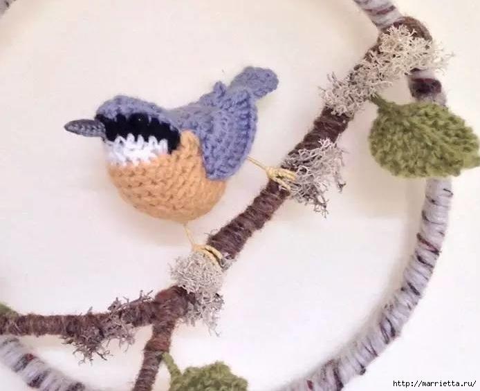 Птичий двор Jose Heroys. Вязаные птички, необыкновенной красоты (58) (694x566, 142Kb)