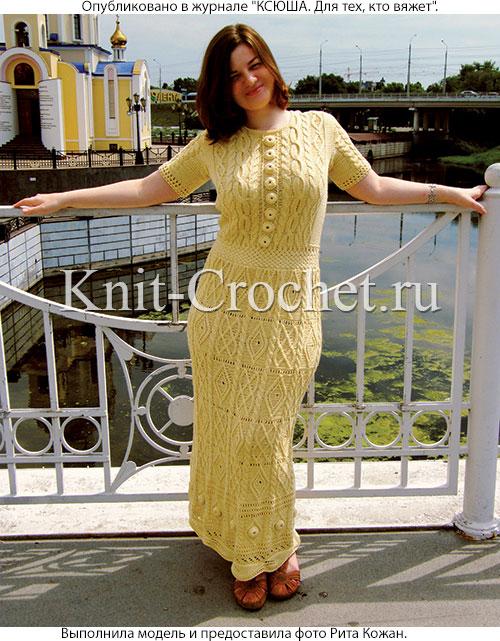 Вязание спицами платья и юбки