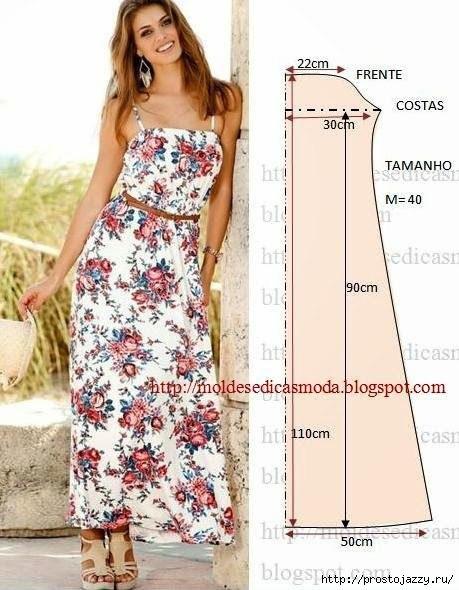 Выкройки летних платьев и картинки