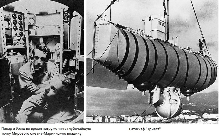 23 января 1960 Пикар и Уэлш (700x444, 146Kb)