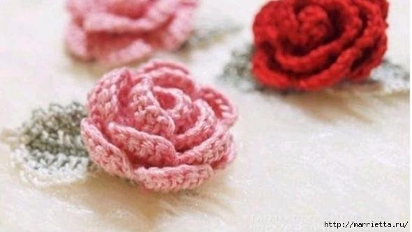 Сервировочная салфетка крючком с цветочками (3) - копия - копия (590x333, 104Kb)