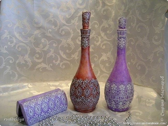 Декорирование бутылок в технике Сицилийское Кружево (1) (650x488, 189Kb)