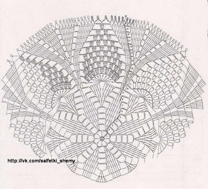 салфетка -схема (689x626, 451Kb)