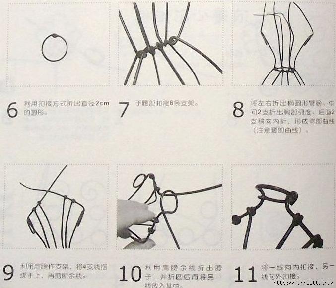 Как сделать манекен из проволоки своими руками 87