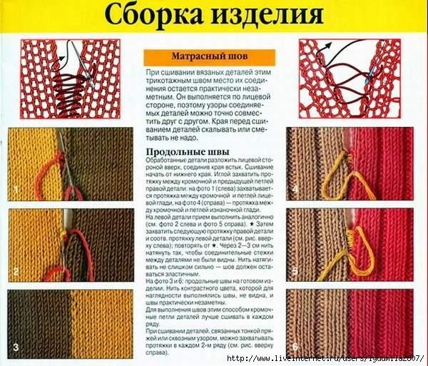 Сшить вязаное изделие трикотажным 292