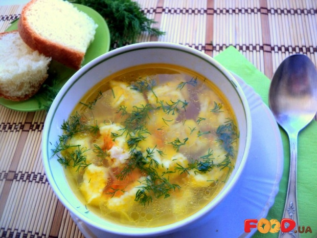 Суп с клёцками вкусный пошаговый с фото