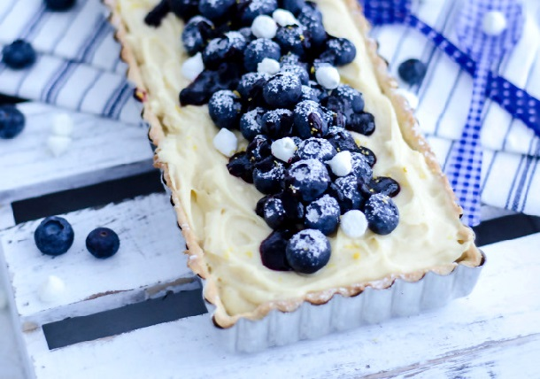 Blueberry & Lemon Pastry Cream Tart 7a (610x428, 96Kb)