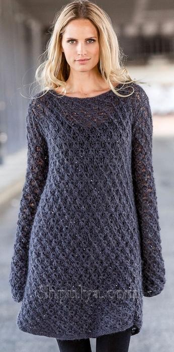 Вязаное женское платье спицами, платье спицами, вязание для женщин, вязаное женское платье, платье связать, /5557795_1703_1 (346x700, 207Kb)