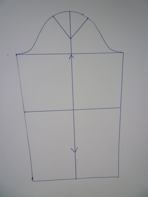 Блуза складки на плече выкройка