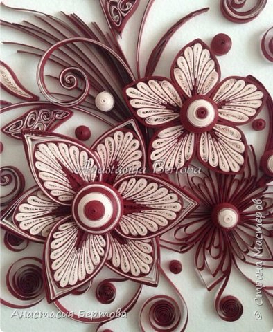 Фантазийные цветы в технике квиллинг. Мастер-класс Анастасии Бертовой (1) (394x480, 221Kb)