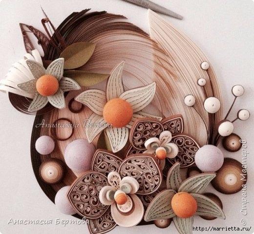 Фантазийные цветы в технике квиллинг. Мастер-класс Анастасии Бертовой (3) (520x478, 167Kb)