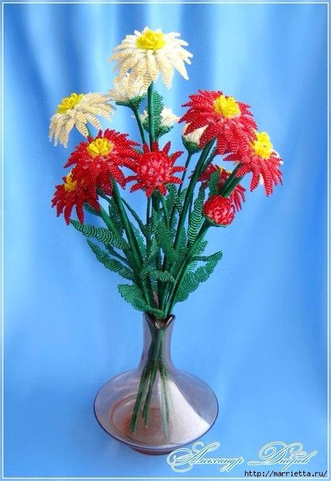Цветы из бисера. Хризантемы (3) (481x699, 184Kb)